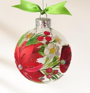 New Holiday Traditions During COVID - Handmade Ball Ornament