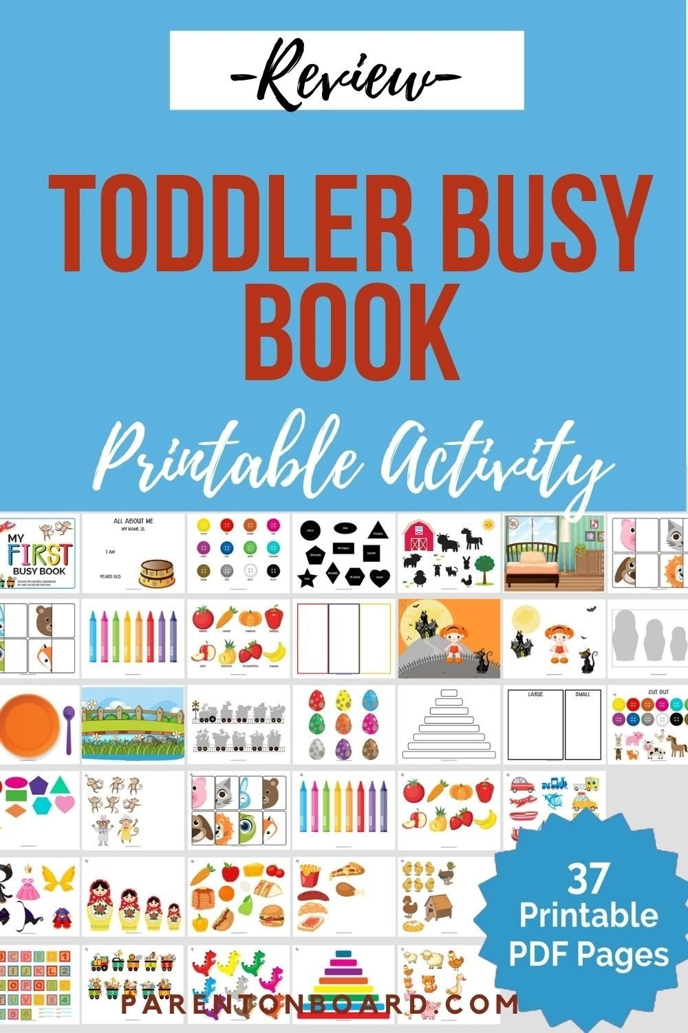 Printable Activities for Toddlers Pin