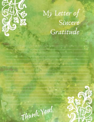 My Letter of Sincere Gratitude Template
