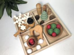 Wooden Christmas Open Ended Toy Set