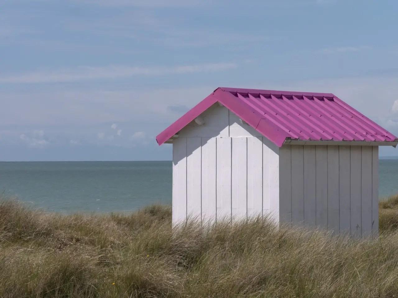 cabanes de plage de gouville sur mer