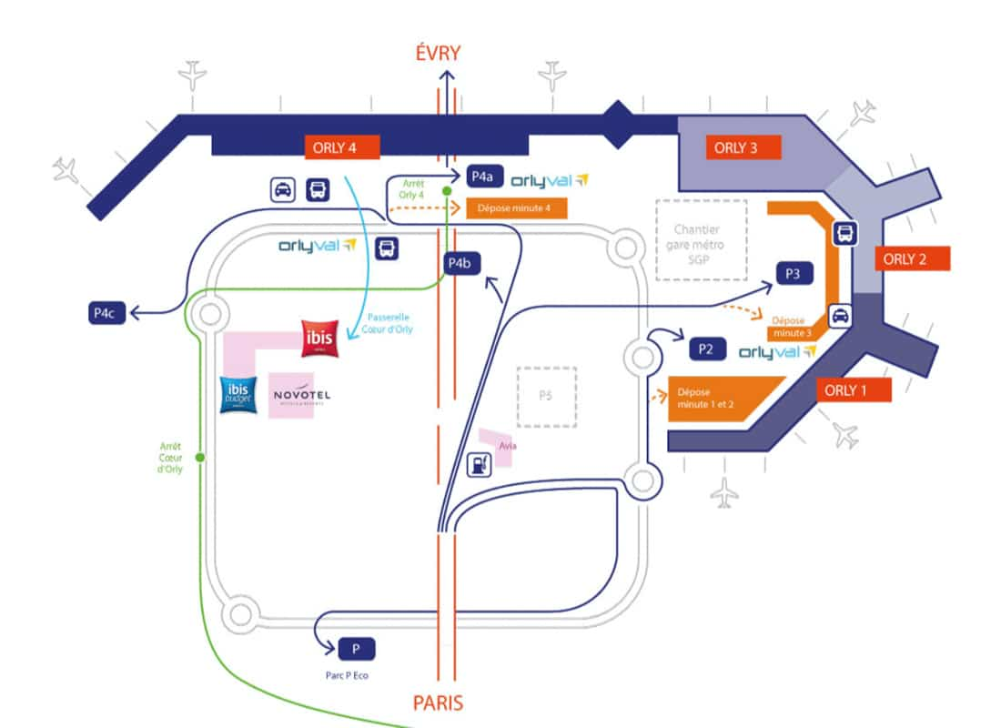 comment rejoindre l'aéroport d'Orly depuis Paris