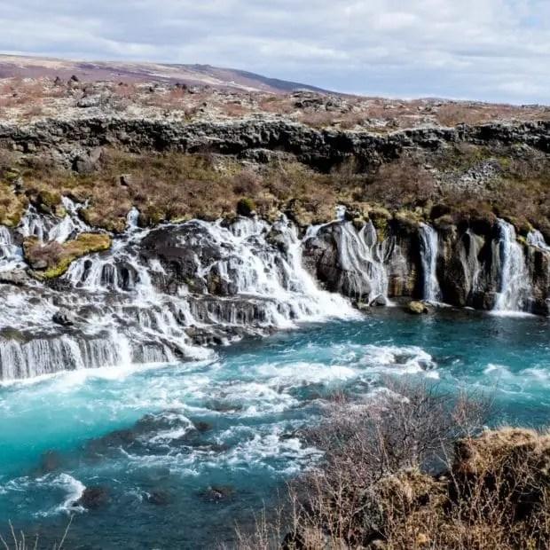 Islande avec enfants - Hraunfossar
