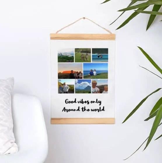 Que faire de vos photos de vacances - Poster tissu