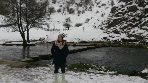 Me, My Dad and the snowy Dovedale walk