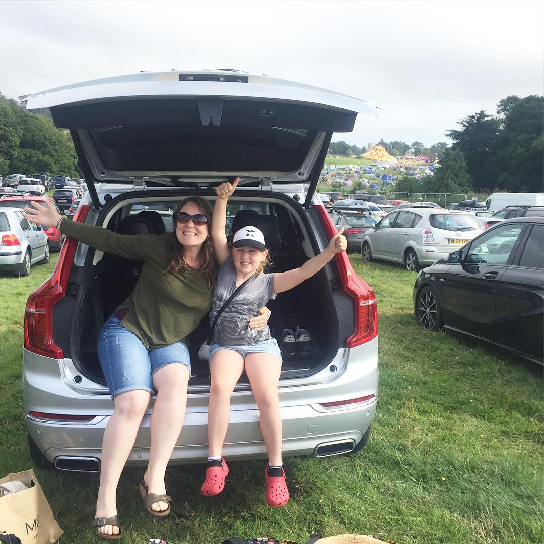 We've arrived @campbestival - Brilliant journey in the @volvocars XC90 #campbestival