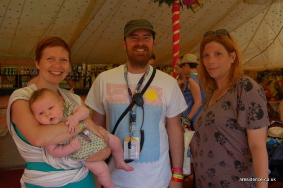 Lucy from Lulastic, Bruce from Camp Bestival and Sonya from Ramblings of a Rock and Roll Mum