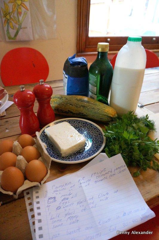Corfu Club Aparthotel Pumpkin or Courgette Pie with no crust ingredients