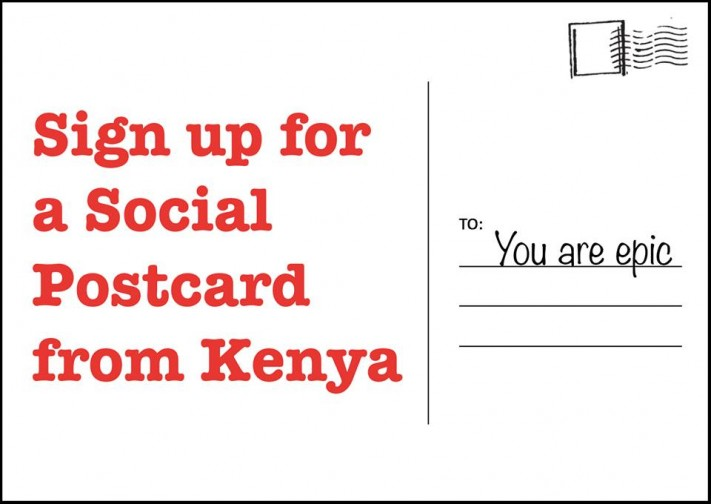 sign up for kenya postcard