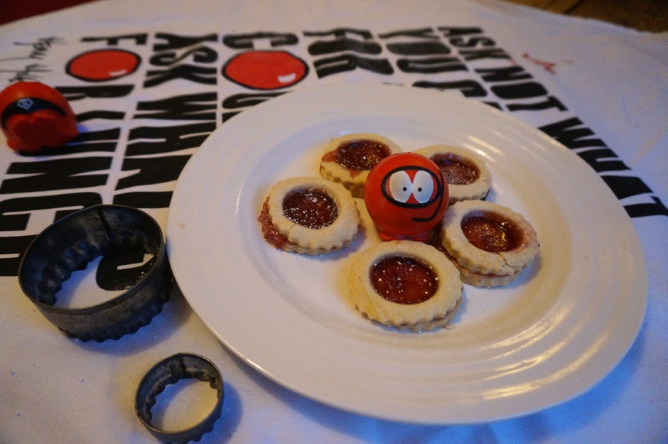 Red Nose Day Jammy Dodgers or Jam Tarts Recipe-9