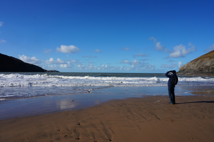 A family day at Mwnt beach, Cardigan bay, Wales