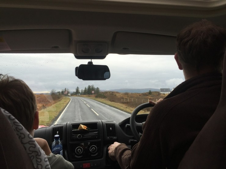 On the road to Skye Camping and Caravanning Club site