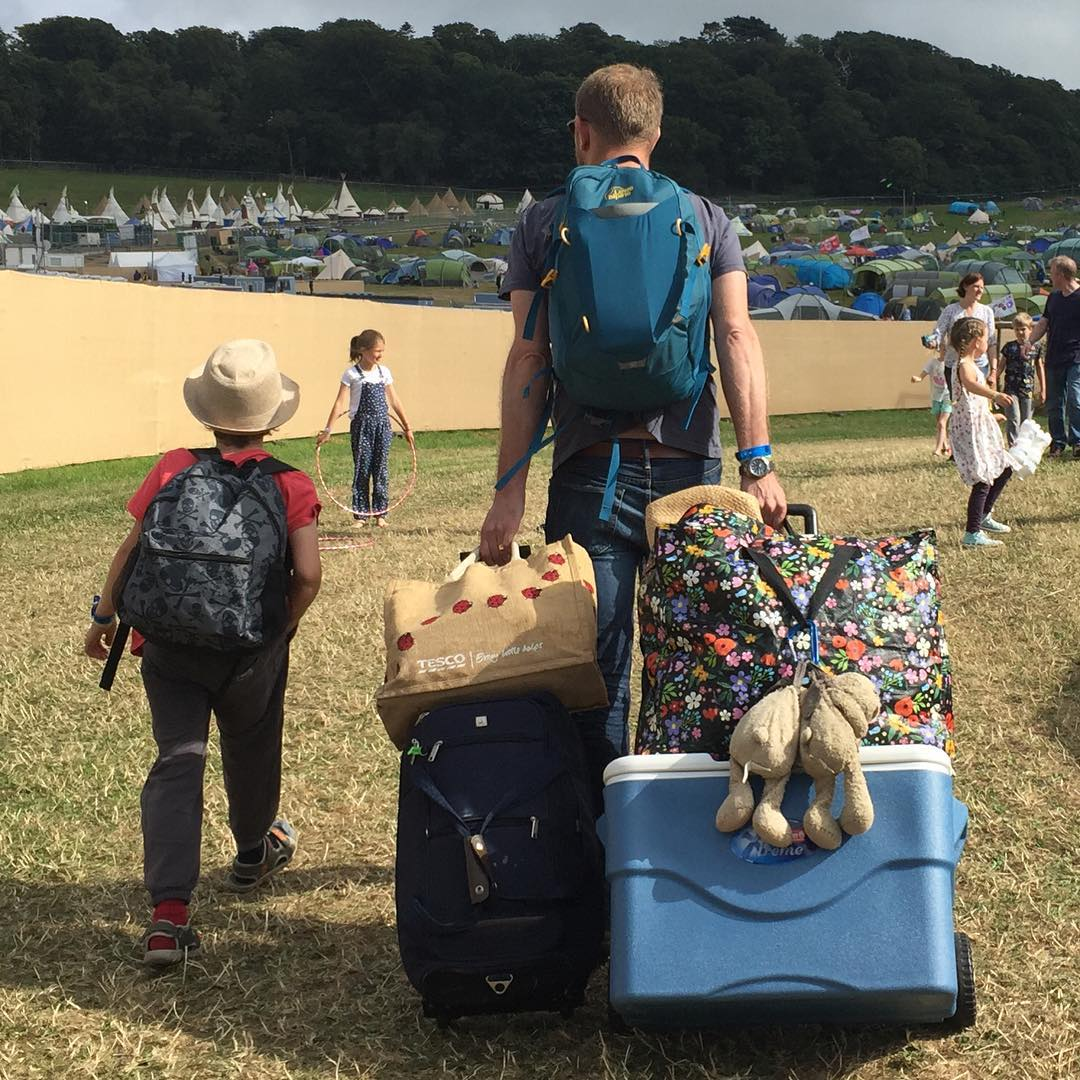 Two favourite boys and two favourite bears arriving at Camp Bestival. So excited to be back, we really missed it last year. Such a beacon of how much my kids have grown up. They were 3 and 5 the first year, this year they are 7 and 9. I really love growing up with Camp Bestival in our lives, I don't normally like holidaying to the same place, but It's so different yet familiar here each time ❤️ We bumped into @iamalisonperry as we arrived and we're camping neighbours ❤️ Also saw lots of bloggers for wine tasting earlier #campbestival @campbestival