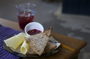 Cheese and scone with jam, simple pleasures in Reykjavik, Iceland.