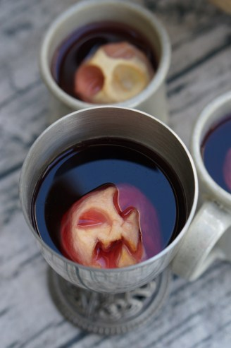 Halloween Shrunken Apple Head Mulled Juice