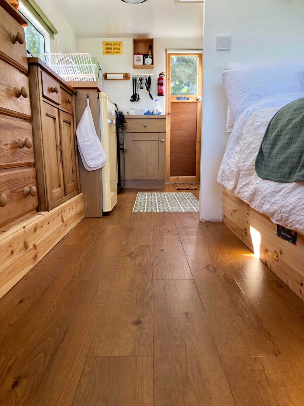 harvey maria vinyl planks, easy to clean caravan flooring