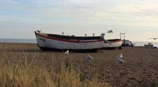 Aldeburgh-boat-on-beach things to do in suffolk