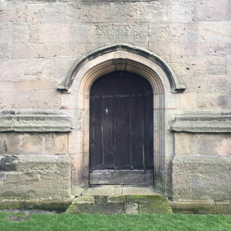 Bonny Prince Charlie bullet holes in Mayfield Church door, staffordshire Peak District
