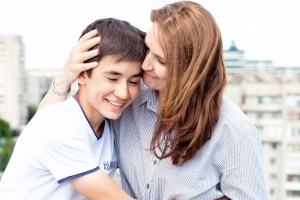 parent with teen