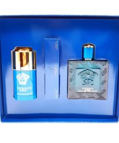 Versace Eros Gift Set 100ml Eau de Toilette + 10ml Eau de Toilette + 75ml Deodorant Stick