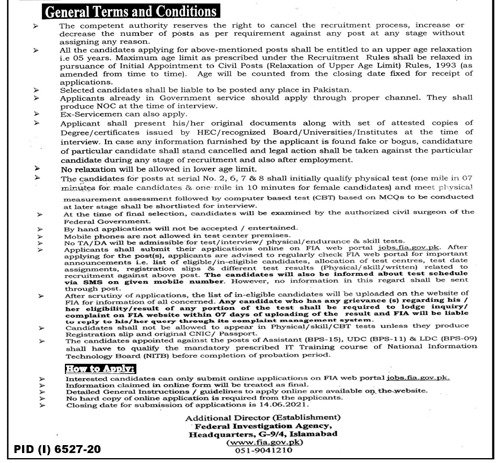 How to apply for FIA Jobs 2021