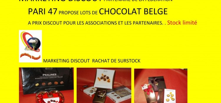 """Lots de chocolats belges à prix """"discout"""""""