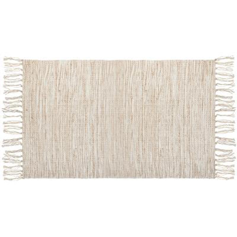 tapis en jute franges 70x140cm lin