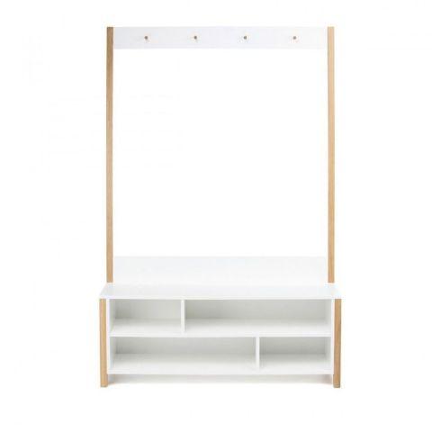 meuble d entree vestiaire northgate 120cm chene blanc