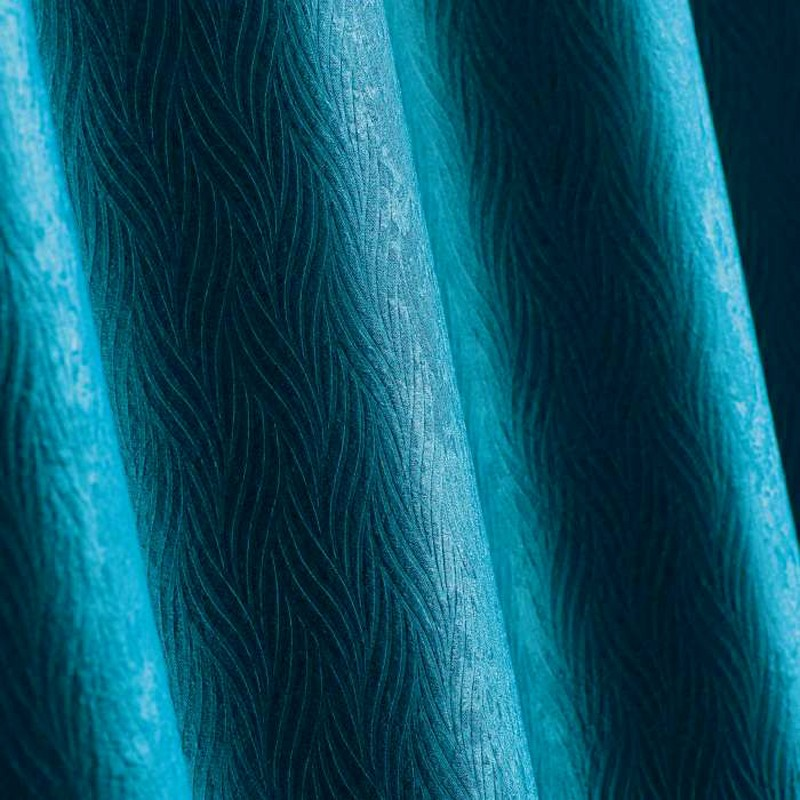 rideau occultant velours shadow 140x240cm bleu petrole