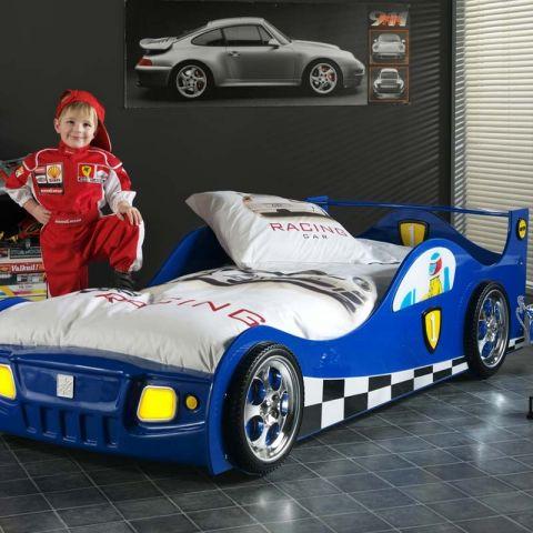 lit enfant voiture monza bleu