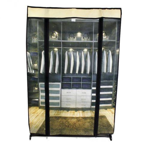 armoire de rangement chaussures en tissu dressing beige