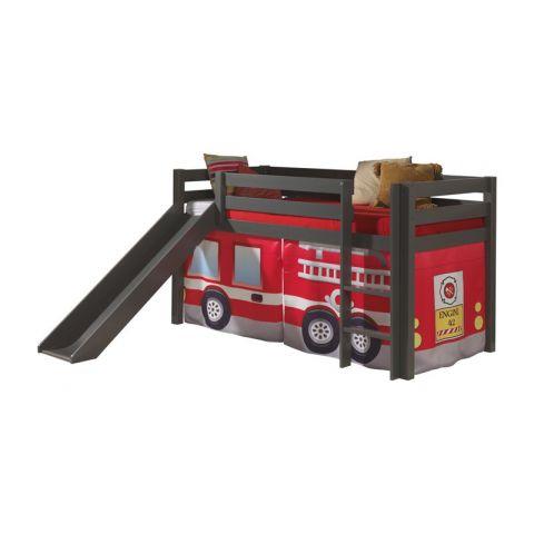 lit enfant avec toboggan pino pompier taupe