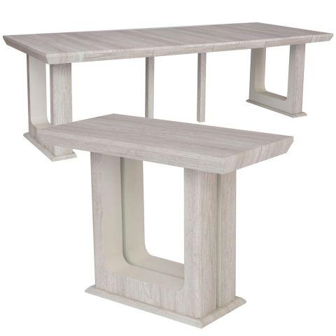 table console extensible rui 50 250cm chene blanchi
