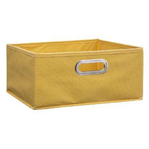 boite de rangement pliable premium 15x31cm jaune