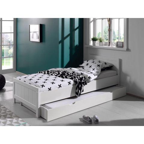 lit enfant avec tiroir erik 90x200cm blanc
