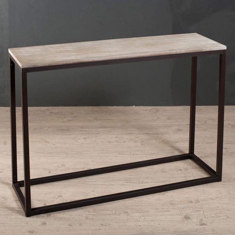 console design bois fer swaps 110cm naturel