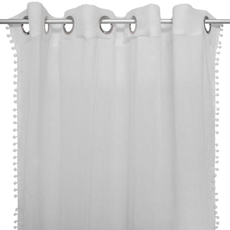 rideau voilage a œillets enfant jyo 140x240cm gris