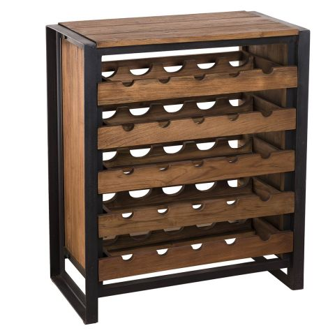 meuble range bouteilles wangle 90cm naturel