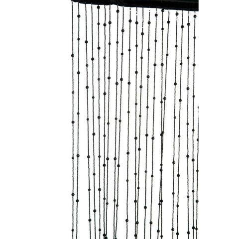 rideau fil deco avec boules curtain 175cm noir