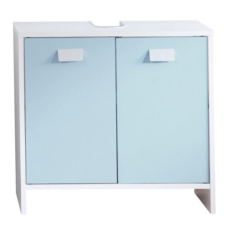 Meuble Sous Lavabo Octan 60cm Blanc Bleu