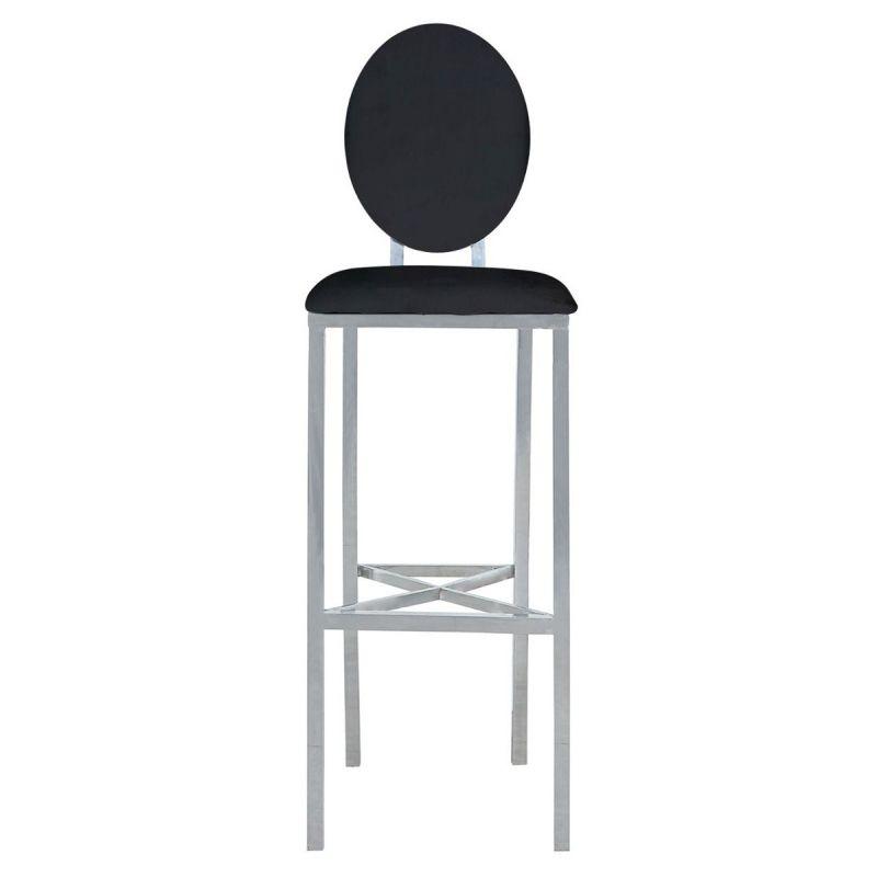 lot de 2 chaises de bar design medaillon 127cm noir