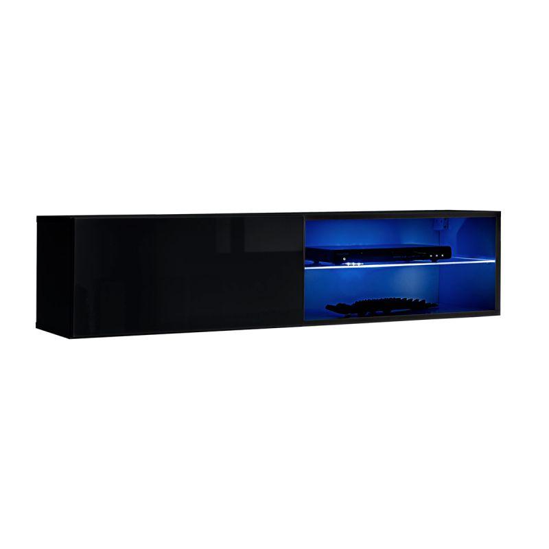 meuble tv led design switch iv 120cm noir