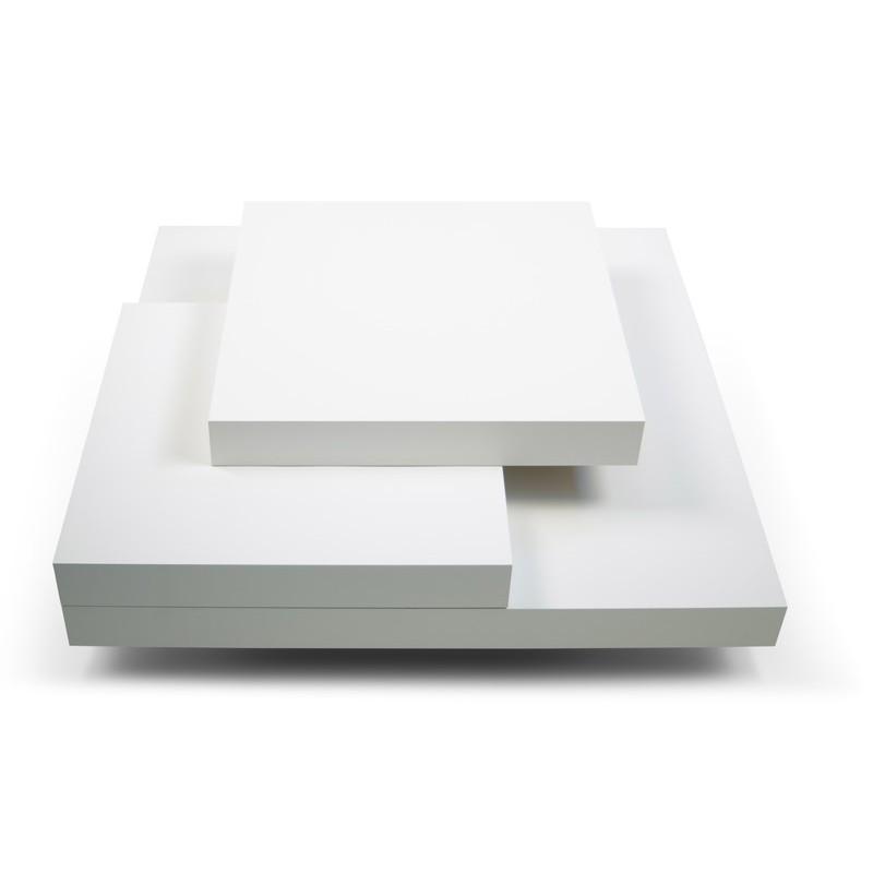 temahome table basse 90cm slate blanc mat