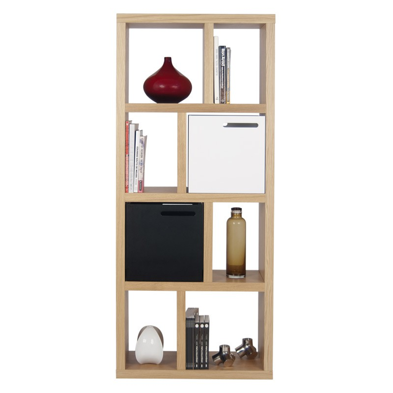 temahome etagere bibliotheque berlin 4 niveaux 70cm chene