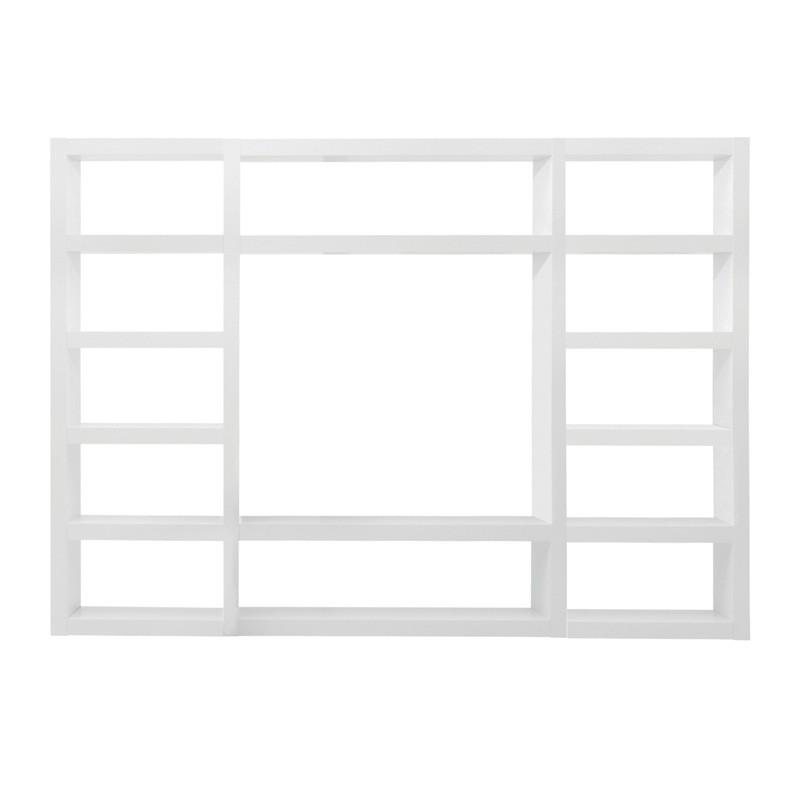temahome etagere bibliotheque denso 5 blanc laque