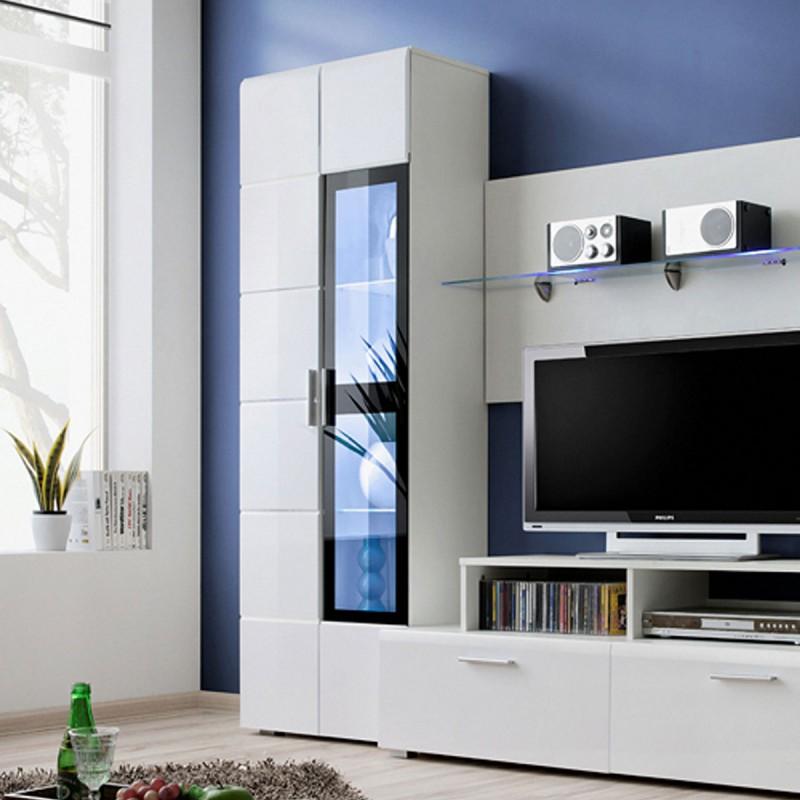 meuble tv mural design krone 270cm blanc