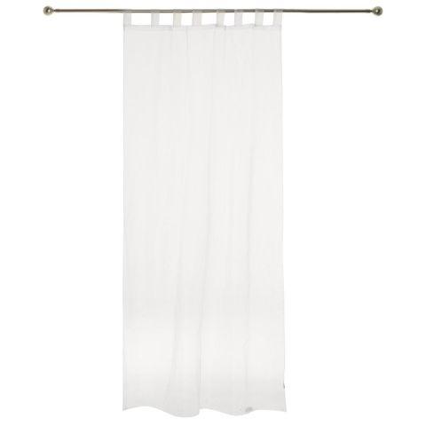 lot de 2 rideaux voilages organza 140x240cm blanc