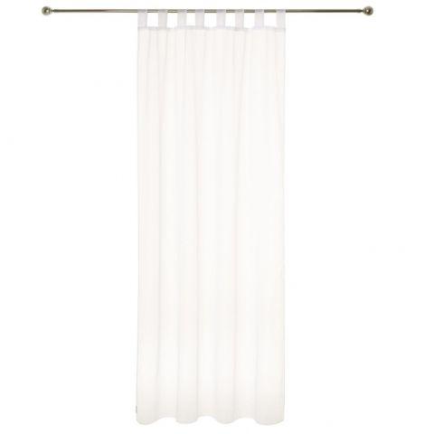 lot de 2 rideaux voilage pattes 140x240cm ivoire
