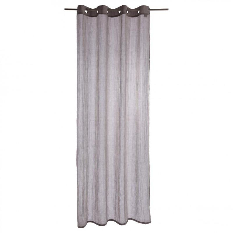 rideau voilage memo 140x240cm gris clair