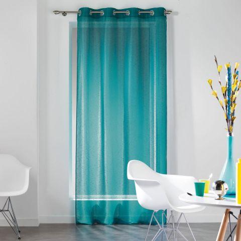 rideau voilage dandy 140x240cm turquoise